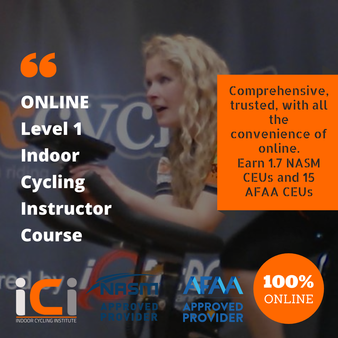ONLINE Level 1 Indoor cycling instructor course