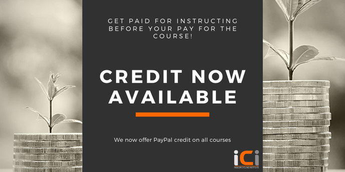 Credit for courses now available with PayPal.